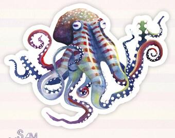 Octopus vinyl sticker