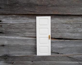 Taller White Door, Fairy Door, Elf Door