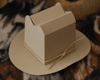 Cowboy Hat Gift or Favor Box / Cowgirl Hat Gift or Favor Box / Western Party Favor / Wild West Box