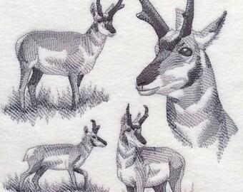 Custom Embroidered Pronghorn Sweatshirt S-3XL