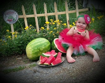 Red Watermelon Tutu, One in a Melon, Cake Smash Outfit, Red Tutu, Watermelon Skirt, Baby skirt, Summer Tutu, Melon Skirt, Two-tti Fruity