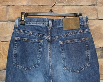 CLEARANCE Vintage Calvin Klein Jeans  High Waisted  Women's Size 6  Dark Wash Denim