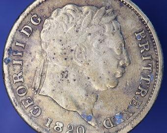 GENUINE 1820 George III brass gaming token, shilling design *[10005]