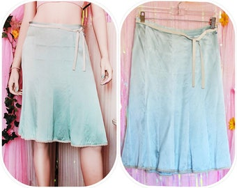 90s SILK ANGEL BLUE Skirt - Grunge skirt 90s skirt 90s Grunge 90s Clothing 90s Grunge skirt
