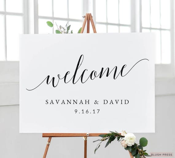 wedding welcome sign template printable welcome wedding sign. Black Bedroom Furniture Sets. Home Design Ideas