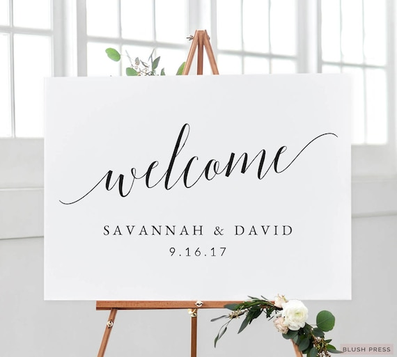 Mesmerizing image with welcome signs template