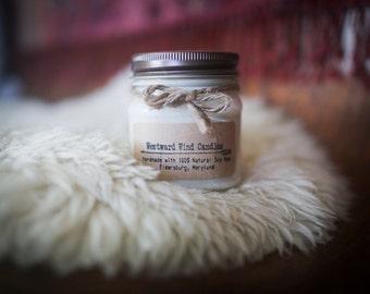 Black Pepper Bergamot Natural Soy Wood Wick Candles