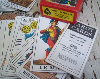Vintage Tarot Cards AG Muller 1JJ  complete with instructions 1970 Made in Switzerland Free shipping to USA