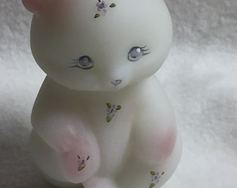 Fenton Art Glass Bear with Country Berries (#003)