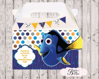 10 Finding Dory Party Boxes, Dory Party Favors, Dory Party Favor Boxes Finding Dory Gable Boxes