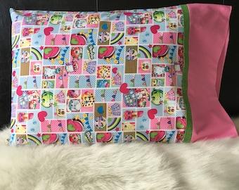 Shopkins Pillowcase/Pillowcasesforcancer/Super Standard Size/Pillowcasesforcancer/Childhood Cancer Donation with each purchase!