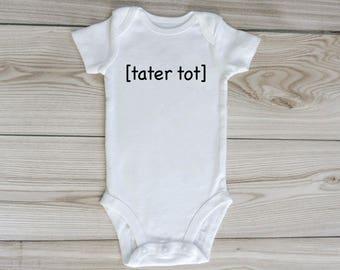 tater tot onesie / custom baby onesie / gender neutral