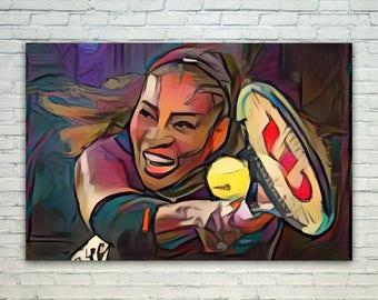 Serena Williams - Serena Williams Poster,Serena Williams  Art,Serena Williams Print,Serena Williams Poster,Serena Williams Merch,Serena Will