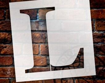 L -Monogram Letter Stencil - Select Size - STCL1725 - by StudioR12
