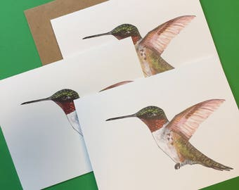 Hummingbird Note Cards, personalized