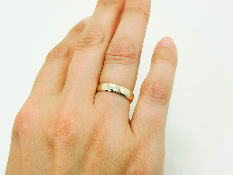 14 Karat Gold Ring Pure 14K Gold Wedding Band Real 14K