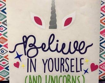 Unicorn Decal - Believe in Yourself