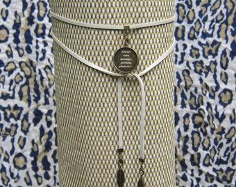 collier en lanière simili cuir à personnaliser