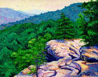 View from Bee Rock, 8 x 10 in., giclee print
