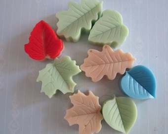 Scented Wax Melts- Leaf Shape Candles - Fall leaves Wax Candle Melts - Wax Melt -2oz