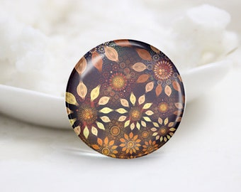 Handmade Photo Glass Cabochons cameo cover-Floral (P3860)