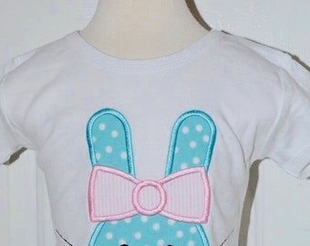 Personalized Easter Bunny Applique Shirt or Bodysuit Girl or Boy