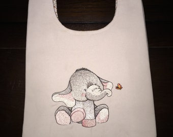 Elephant and a Butterfly - Just About Anything Tote