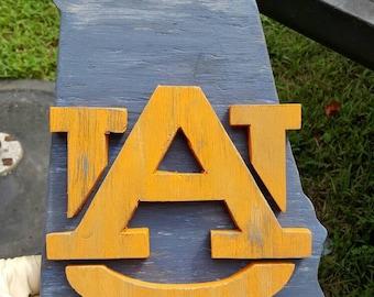 Wooden Auburn Sign