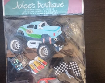 Jolee's Boutique-Remote Control Cars-7 Dimensional Stickers-Brand New-EK Success