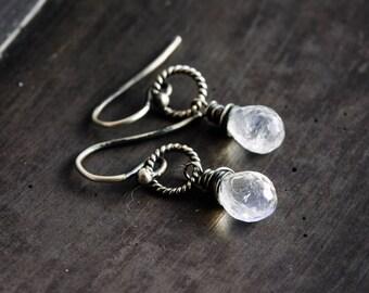 Moonstone Earrings, Drop Earrings, Gemstone Earrings, Moonstone Jewelry, Sterling Silver, Celestial Jewelry, Dangle Earrings, PoleStar
