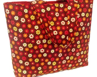 The Flower Power- 70's Retro Tote