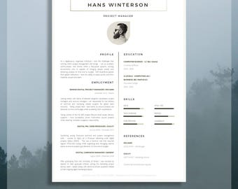 CV Template | Résumé Template For Word + Cover Letter + Advice | 1 U0026 2