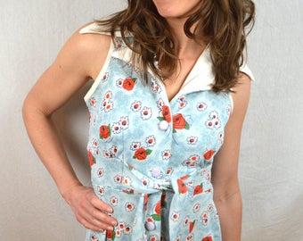 Super Cute 1970s Floral Summer Dress