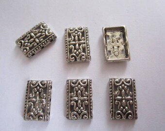 Silver spacer metal beads