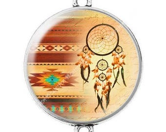 Great connector silver cabochon dreamcatcher dream catcher Indian c1