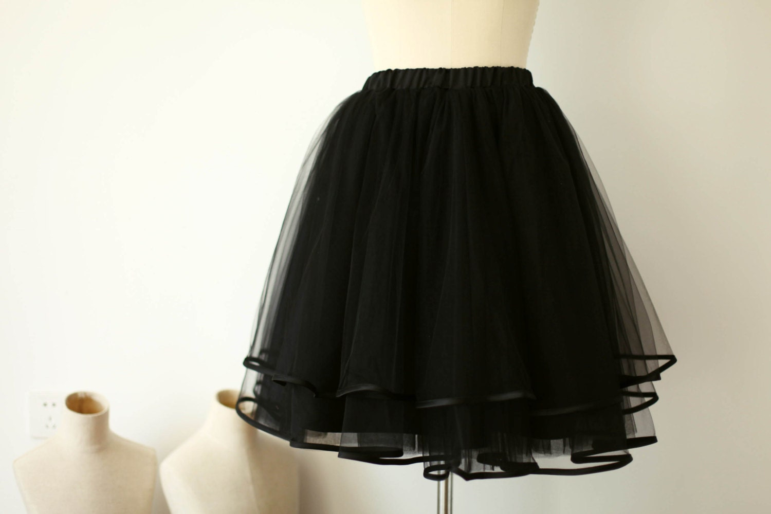 Cheap Black Tulle Skirt