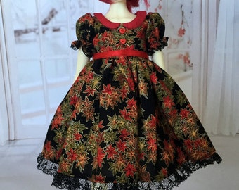MSD BJD Autumn Leaves dress