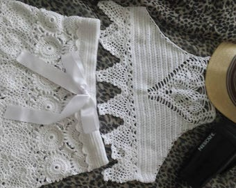 Women knitted swimsuit .Bohol style