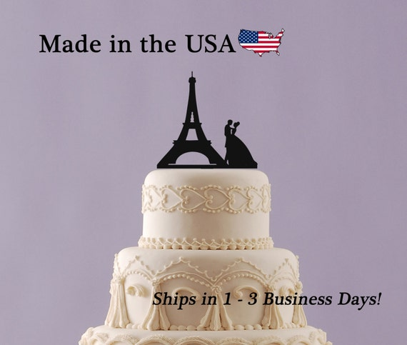 Paris Eiffel Tower Cake Topper, Wedding Cake Topper, Paris Topper ...