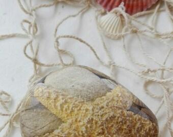 Stone decoration SPA, paperweight decor decoupage sailor sea star
