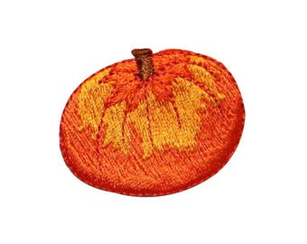 ID 0799A Pumpkin Patch Halloween Fall Harvest Embroidered Iron On Applique