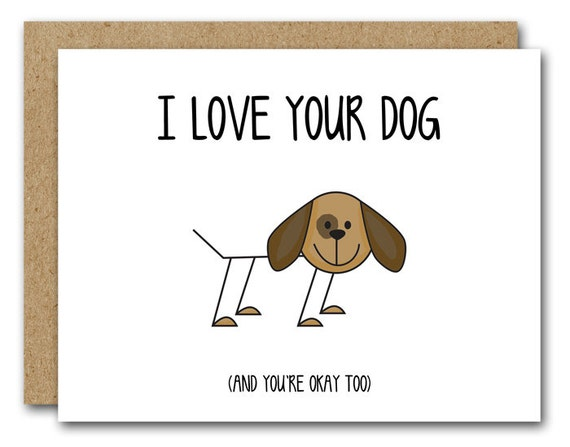 Printable dog card funny dog card i love your dog dog printable dog card funny dog card i love your dog dog greeting card humorous dog card dog birthday card instant download bookmarktalkfo Gallery