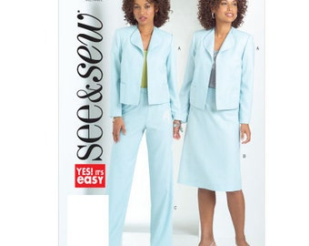 See & Sew Sewing Pattern B4963 - Misses' Jacket, Skirt, and Pants (16-22)