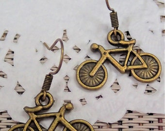 Elegant Assorted Colours Tiny Bicycle Earring