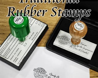 Rubber Stamp - Custom Made Rubber Stamp - Personalized Stamp - Company Stamp - Craft Stamp - School Stamp