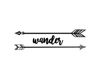 Wander with Arrows Decal