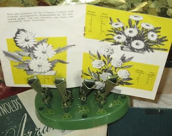 Vintage Reynolds Floral Arrangement - Flower Frog  with Original Box  Floral Arrangement  Instructions