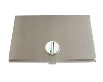 Italy Flag Leaning Tower of Pisa Business Card Holder
