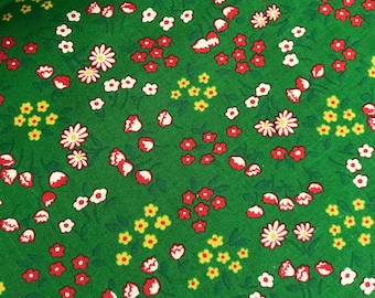 Tiny Floral on Green from the 30's Collection by Lecien Fabrics, Tiny Floral, Small Print, Blythe Doll Fabric