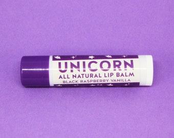 Unicorn All Natural Lip Balm - Black Raspberry Vanilla Flavour